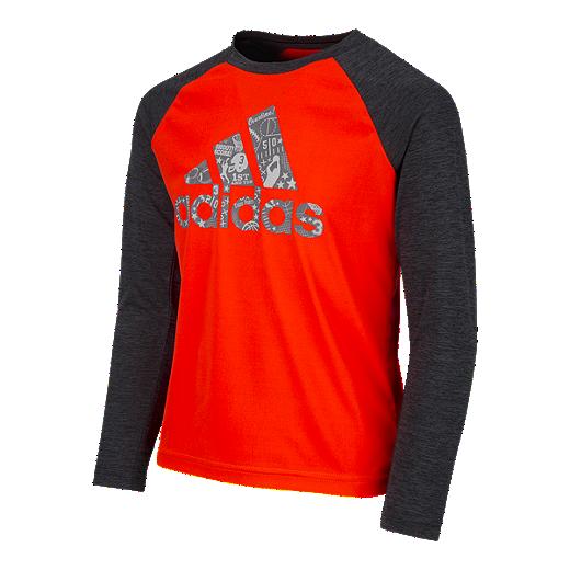 a6ed7883e6 adidas Boys' 4-7 All Sport Logo Long Sleeve Shirt   Sport Chek