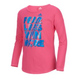 adidas Girls' 4-6X Heart And Hustle Long Sleeve Top