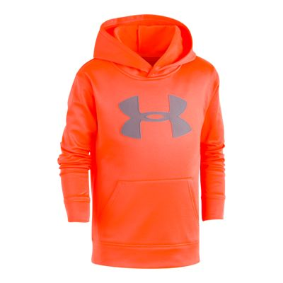 Under Armour Boys' 4-7 Mesh Big Logo Armour Fleece Hoodie