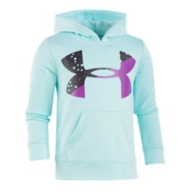 Under Armour Girls' 4-6X Astro Dot Big Logo Pullover Hoodie