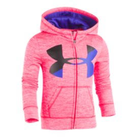 Under Armour Girls' 4-6X Big Logo Twist Full Zip Hoodie
