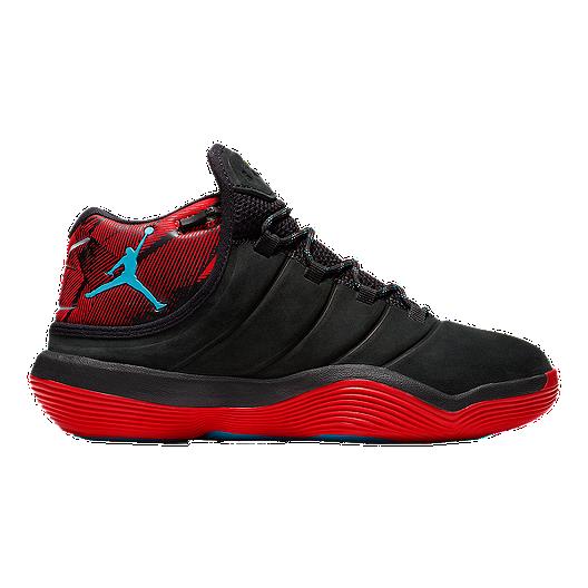 6ffbe2f06b2458 Nike Kids  Jordan Super.Fly N7 Grade School Basketball Shoes -  Black Teal Red