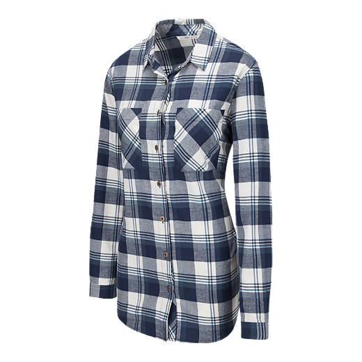 8e7a340d2 O'Neill Women's Traveller Plaid Flannel Shirt - BLUE PLAID