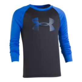 Under Armour Boys' 4-7 Speed Lines Big Logo Long Sleeve Raglan Top