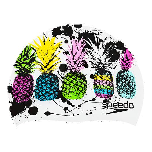 ac1ef1cd07 Speedo Tropical Holiday Swim Cap - Pineapple | Sport Chek