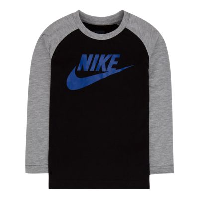 Nike Boys' 4-7 Long Raglan Sleeve Futura T Shirt
