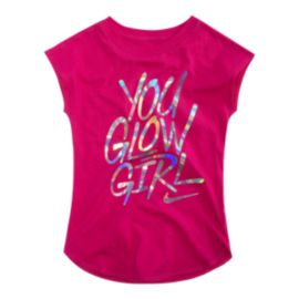 Nike Girls' 4-6X You Glow Girl T Shirt