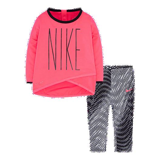 21b560993c Nike Baby Girls' Sport Essentials Dri FIT Top and Leggings Set   Sport Chek