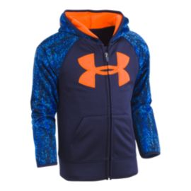 Under Armour Boys' 4-7 Big Logo Full Zip Hoodie