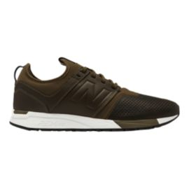 New Balance Men's 247 Leather Shoes - Olive/White