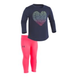 Under Armour Baby Girls' Script Long Sleeve Shirt & Pants Set