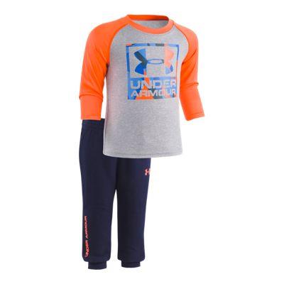 Under Armour Baby Boys' Hybrid Big Logo Jogger Set