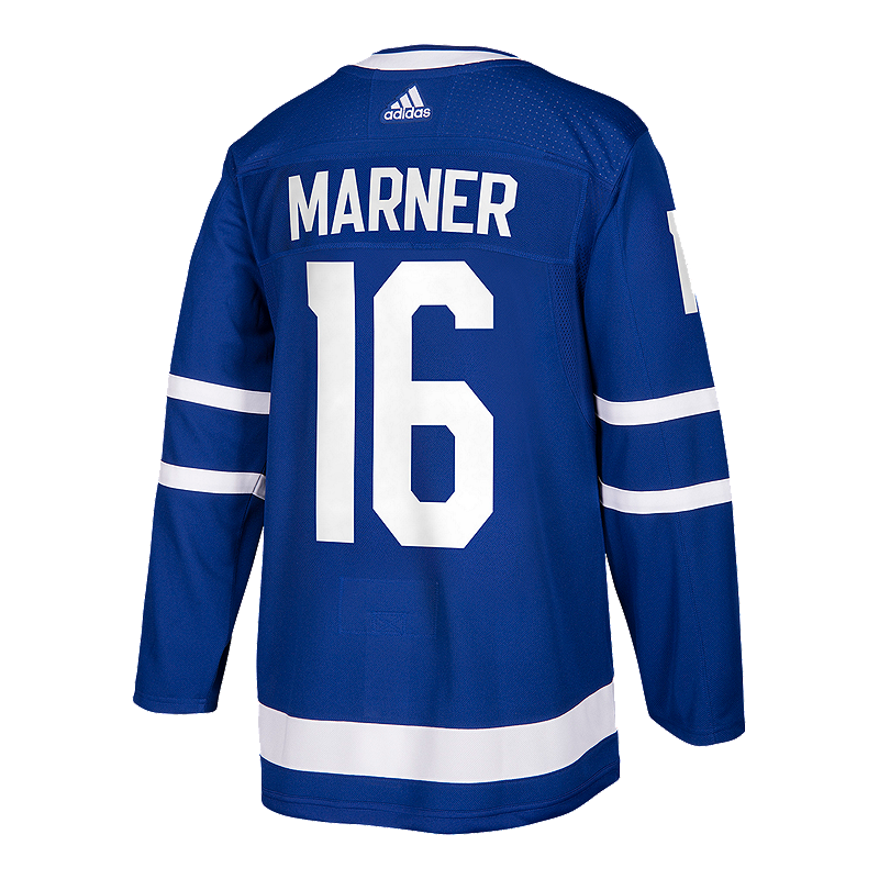 new product f9866 c3a98 Toronto Maple Leafs Mitch Marner Authentic Home Hockey Jersey