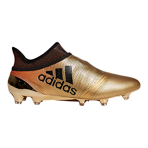 76e601f02e8 adidas Men s X 17+ Purespeed FG Outdoor Soccer Cleats - Gold Black - GLD