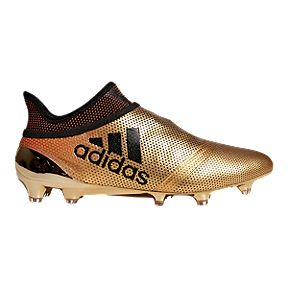 d8b416393 adidas Men s X 17+ Purespeed FG Outdoor Soccer Cleats - Gold Black