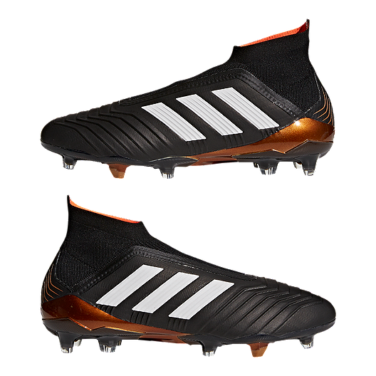 hot sale online 661ba f4652 adidas Men s Predator 18+ FG Outdoor Soccer Cleats - Black White. (0). View  Description