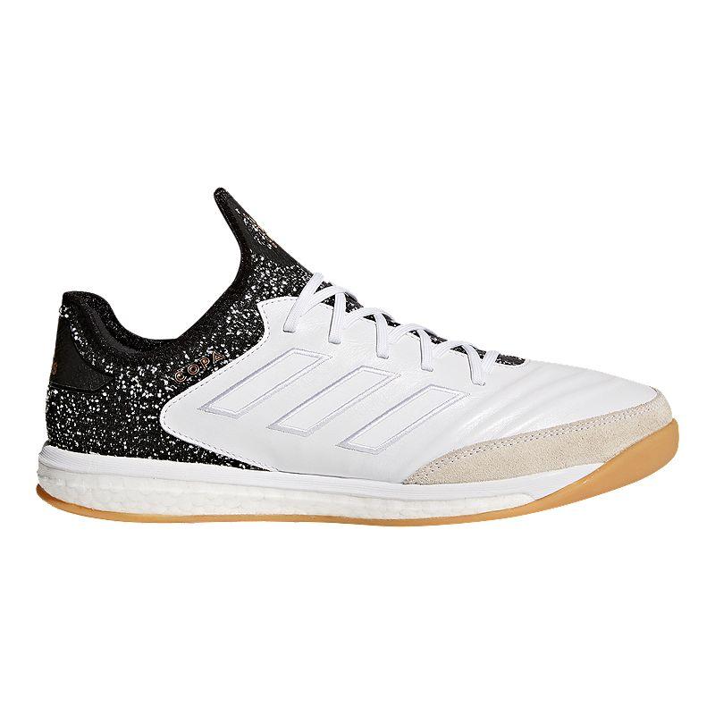 2e1b6b8780e adidas Men s Copa Tango 18.1 TR Indoor Soccer Shoes - White Black Gold (