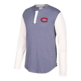 Montreal Canadiens CCM Long Sleeve Henley Shirt