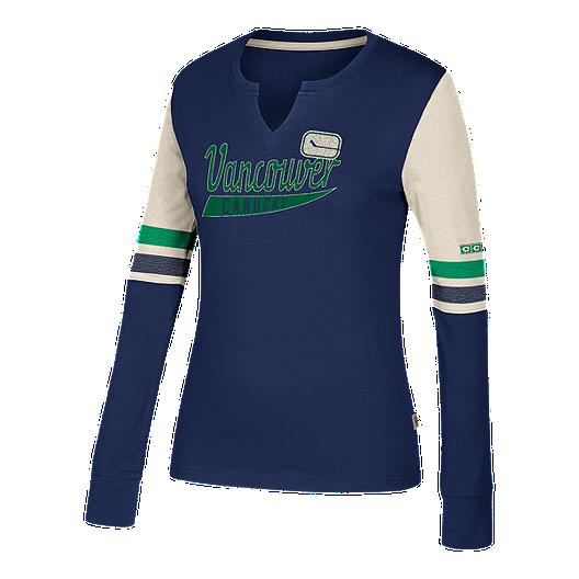 new style 71cec f249c Vancouver Canucks CCM Women's Henley Shirt