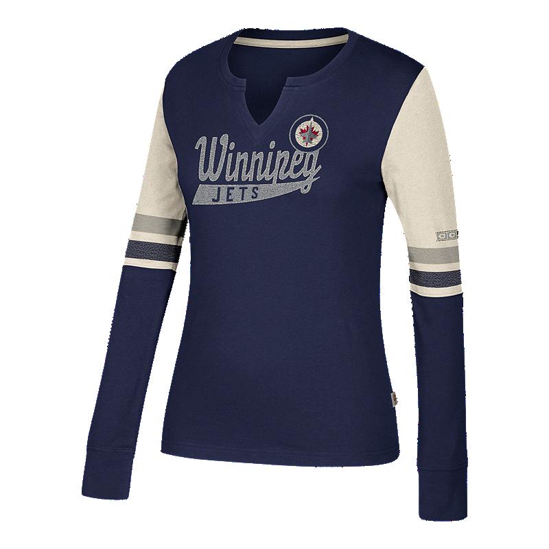 new concept c6bab a1c8f Winnipeg Jets CCM Women's Henley Shirt