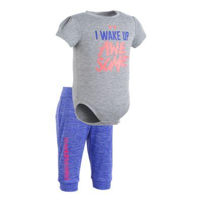 Under Armour Baby Girls' I Wake Up Awesome Jogger Set