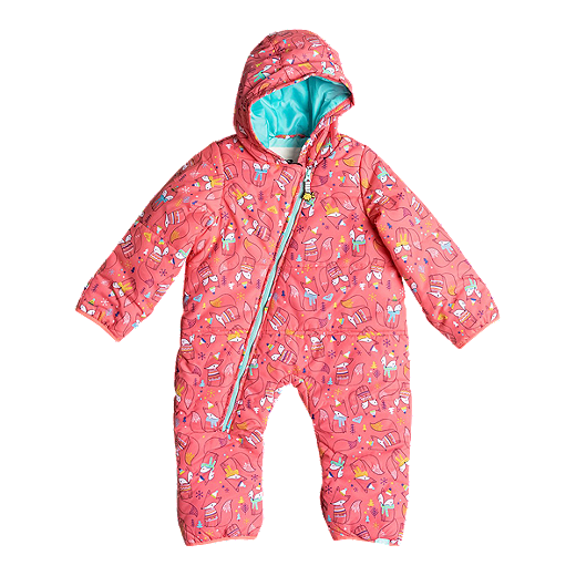 d20b4bda1 Roxy Baby Rose Insulated Snowsuit - NEON GRAPEFRUIT_FOXES