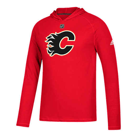 quality design a8c37 f655a Calgary Flames Logo Premier Ultimate Long Sleeve Hoodie
