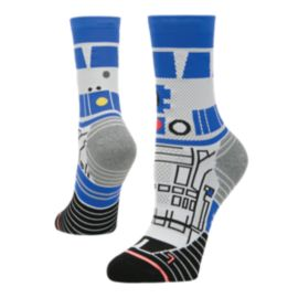 Stance Women's Star Wars R2D2 Run Crew Socks - White