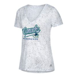 Vancouver Canucks Women's Open Script Tail T Shirt