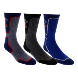 Toronto Blue Jays Half Terry Athletic Crew Socks - 3-Pack