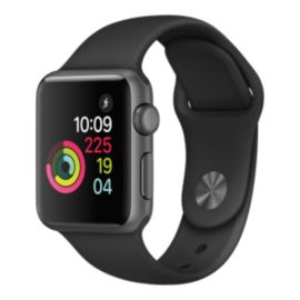 Apple Watch Series 1, 38mm Space Grey with Black Band