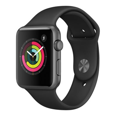 Apple Watch Series 1; 42mm Space Grey with Black Band