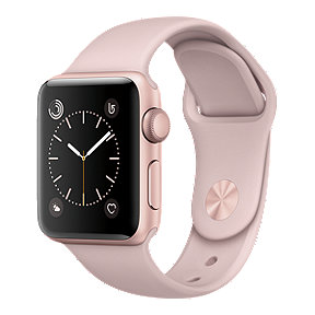 Apple Watch Series 2, 38mm Rose Gold with Pink Sand Band