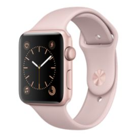 Apple Watch Series 2, 42mm Rose Gold with Pink Sand Band