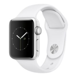 Apple Watch Series 2, 38mm Silver Aluminum with White Band