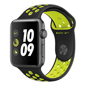 Apple Watch Nike+ 42 mm Space Grey with Black/Volt Band