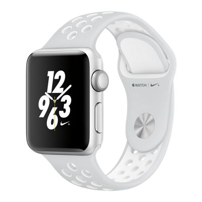 Apple Watch Nike+; 38mm Silver Aluminum with White Band