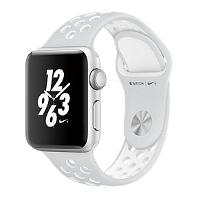 Apple Watch Nike+, 38mm Silver Aluminum with White Band