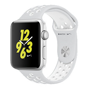 Apple Watch Nike+, 42mm Silver Aluminum with White Band