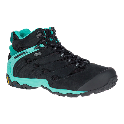 587da9dc4 Merrell Women's Chameleon 7 Mid Waterproof Hiking Boots - Black/Ice