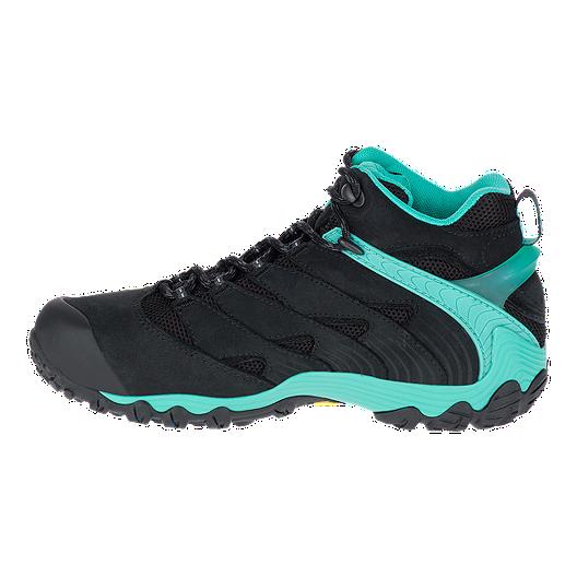 af0027b727b Merrell Women's Chameleon 7 Mid Waterproof Hiking Boots - Black/Ice