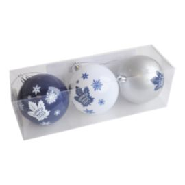 Toronto Maple Leafs Christmas Ornament Set - 3-Pack