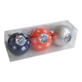 Edmonton Oilers Ornament Set - 3-Pack