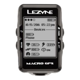 Lezyne Macro GPS Cycling Computer with Heart Rate Strap