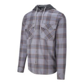 Quiksilver Men's Magson Hooded Long Sleeve Flannel Shirt
