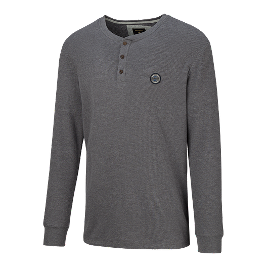 898065133ce4 Quiksilver Men's Ocean Surface Long Sleeve Henley Shirt - Tarmac | Sport  Chek