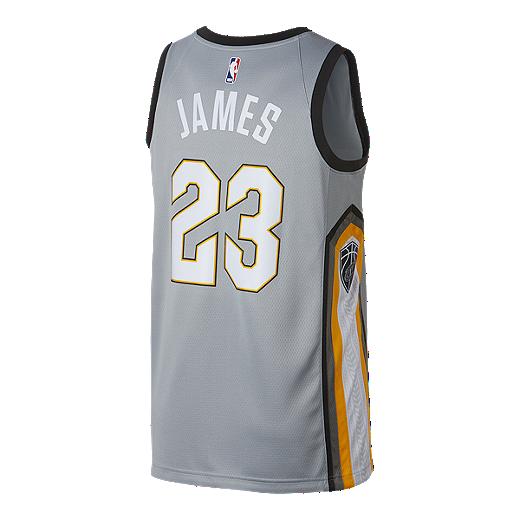 f7a2bbe355c Cleveland Cavaliers LeBron James City Edition Swingman Basketball Jersey -  GRAY