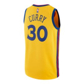 Golden State Warriors Steph Curry City Edition Swingman Basketball Jersey