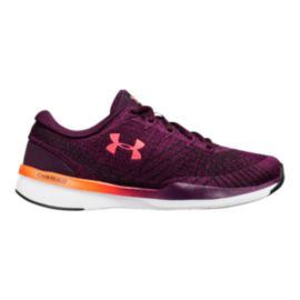 Under Armour Women's Threadborne Push TR Training Shoes - Merlot Red/Coral