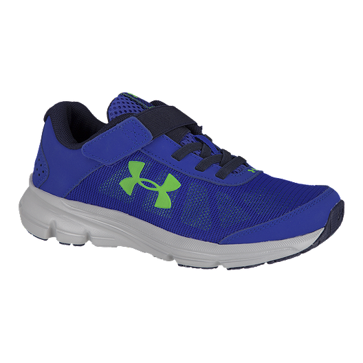 f2101f5fe2 Under Armour Kids' Rave 2 A/C Preschool Shoes - Blue/Green/Grey ...